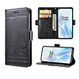 Case for OnePlus 8, Designed for OnePlus 8 Wallet Case with Card Slots, Folding Stand Protective Cover for OnePlus 8. (Black, 6.55'')