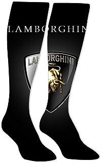 Long Stockings Logo Lambor-ghini Car Tube Knee High Socks Athletic Sports Leggings Slimming Socks for Man Women