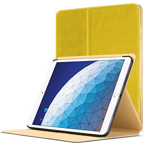 Forefront Cases Smart Funda para iPad Air 3 2019   Estuche Protector con Cierre Magnético para Apple iPad Air 3 2019 10.5 Pulgadas   Smart Auto Sueño Estela Función   Delgado Ligero   Amarillo