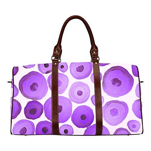 Beach Tote Bag Colorful Cute Circles Waterproof Microfiber Leather Carryon Bag Weekender Bags For Girls Color Tote Bag Backpack Handbag Best Handbags