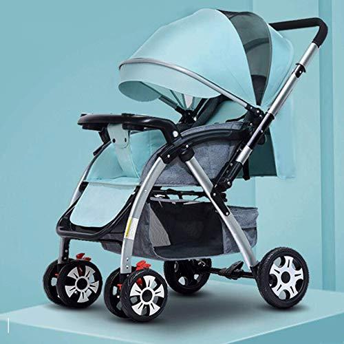 Hacrft Zwei-Wege-Kinderwagen, waschbarer Kinderwagen, großer Raum, zusammenklappbar, geeignet für 0–3 Jahre...