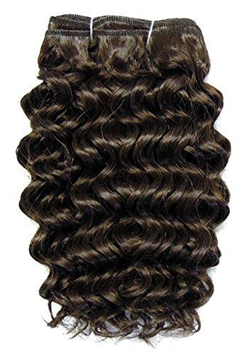 chear Disco Jerry trame Extension de cheveux humains avec de mélange tissage, numéro 4, Taille M, marron foncé 35,6 cm