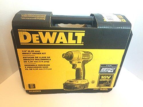 DEWALT DC825KS 18 Volt 1/4-in Cordless Impact Driver Kit