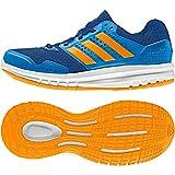 adidas Duramo 7 K Zapatillas de running, Unisex infantil, Azul / Naranja / Azul (Eqtazu / Eqtnar / Azuimp), 38 2/3