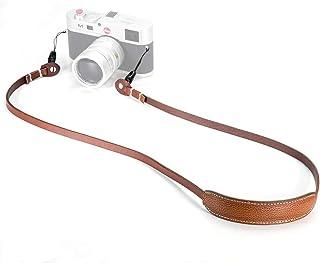 Canpis - Correa de Piel para cámara de Fotos réflex (para Principiantes con cojín móvil Compatible con Sony Leica Canon Nikon Fuji Olympus Panasonic etc.)