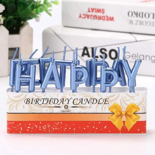 Etophigh Alles Gute verjaardag kaars huishouden kleine kaars voor Birthday Party Cake Decoration Supplies donkerblauw