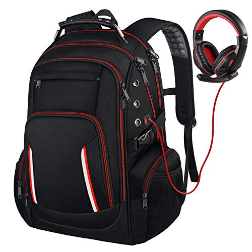 Extra Large Laptop Backpack for Men, 17 Inch TSA Friendly Durable Computer Bookbag