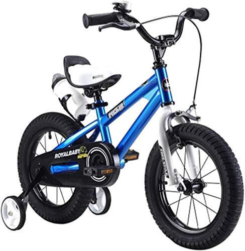 Bicicletas para niños, bicicletas para niños, niñas y niños, bicicletas deportivas 2-3-6-7-8-9-10 años de edad, carruajes de bebé, bicicletas para niños, mejores regalos para niños (Color: Azul, Tamañ