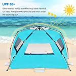 WolfWise 4-5 Person Easy Up Beach Tent UPF 50+ Instant Sun Shelter Canopy Outdoor Sport Umbrella Sun Shade Tent with… 3
