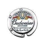 Budweiser Cerveza Monedero, Bolso Percha Bolso Gancho para Mesa Escritori