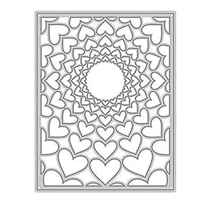 New DIY Layering 2019 Cutting Dies,Letmefun Metal Cutting Dies Stencils Scrapbooking for Paper Background Embossing Lace Frame Card Craft Die Set
