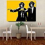 wtnhz Sin Marco Banana Monkey Wall Pictures Creative Oil Painting Print Canvas Top Idea Decor Wall Art para Pintura de Pared d