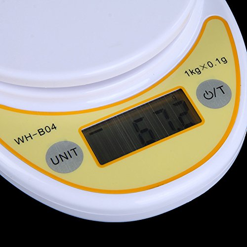 1kg/ 0.1g 1000g Portable LCD Digital Electronic Kitchen Scale Food Parcel Weighing Balance with Bowl