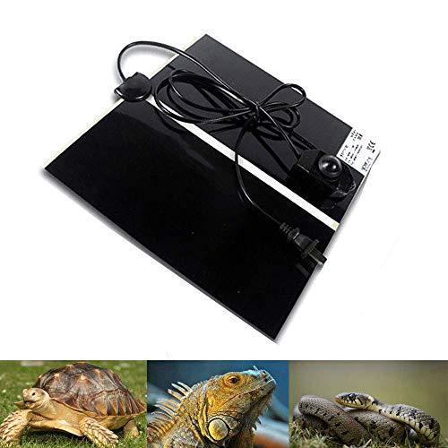 ZDJR Almohadilla de calefacción para Reptiles, Calentador de terrario de Vidrio Que Ahorra energía, Calentador de Tanques, Calentador Debajo del Tanque,42X28cm/16.5X11.0in