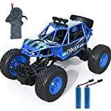 Remote Control Car, Kookids RC Car 2.4Ghz 1:20 Scale RC Crawlers with 2 Rechargeable Batteries, Off Road Vehicle for Kids, Blue