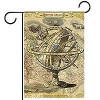 ホームガーデンフラッグ両面春夏庭屋外装飾 12x18INCH,船の地図