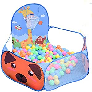 Baby Folding Fence  Child Safety Pop-up Tent Storage Bag  Indoor Game Ball Pool Fence  Color Brown