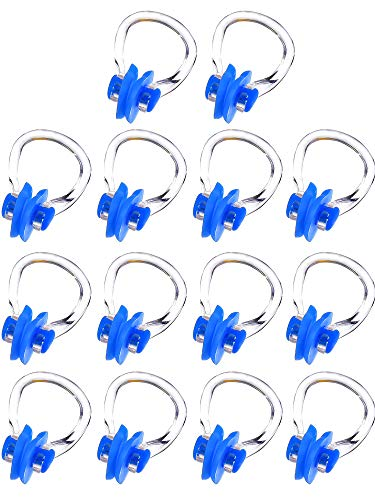 14 Piezas de Pinza de Nariz Enchufe de Nariz de Natación Protector de Nariz de Natación (Azul)
