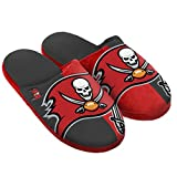 FOCO Tampa Bay Buccaneers Split Color Slide Slipper Large Farbe Hausschuhe, Teamfarbe, L -