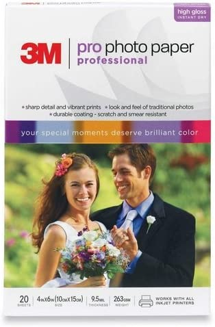 New Free Shipping 3M Pro Photo Paper Japan Maker New Professional 4-Inch 6-Inch 20 x sheets size