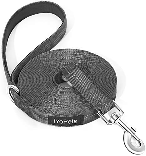 iYoPets Long Dog Leash for Obedience Recall Training - Great for Training, Play, Camping, or Backyard (Medium/Large, 25 FT,Black)