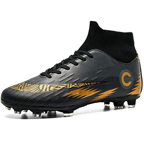 Donbest Fußballschuhe Herren High Top Stollen Spikes Cleats Trainingsschuhe Professionelle Fussballschuhe Outdoor Sport Football Schuhe
