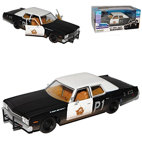 Greenlight Dodge Monaco Chicago The Blues Brothers Bluesmobile Schwarze Reifen 1/24 Modell Auto