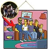 Einfachgelb Personalisiertes Bild wie die Simpsons
