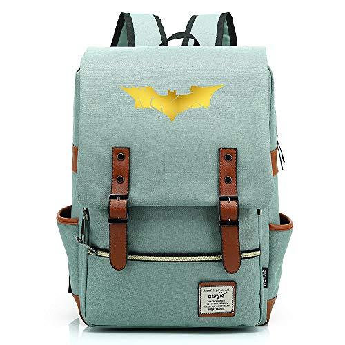 """Batman Bruce Wayne Bat Sac à dos pour homme Sac à dos pour ordinateur portable 14"""" 16"""" Unisexe Sac à dos léger College 17L"""