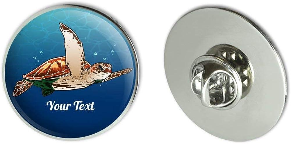 GRAPHICS & MORE Personalized Custom 1 Line Sea Turtle Metal 1.1
