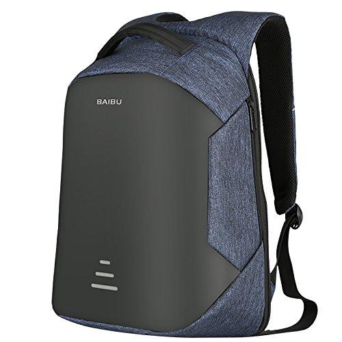 Zaino antifurto per uomo e donna Zaino per laptop impermeabile da 15,6 pollici Zaino di ricarica USB esterno Zaini da viaggio Borse da scuola per adolescenti