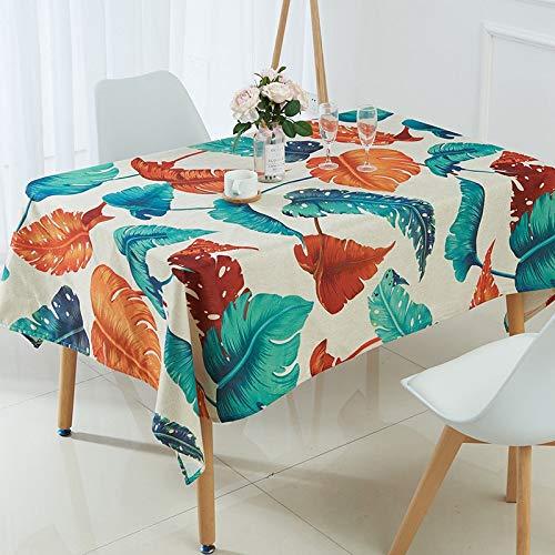 Tafelkleed, tropisch, banaanblad, waterdicht, tafelkleed, decoratie, tafeldecoratie 140x280cm 3