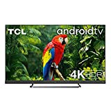 TCL 65EC780 Fernseher 164 cm (65 Zoll) Smart TV 4K (Android TV,4K HDR Pro, HDR 10+, Netflix 4K, ONKYO Soundbar, Prime Video, Works with Alexa) Brushed Titanium