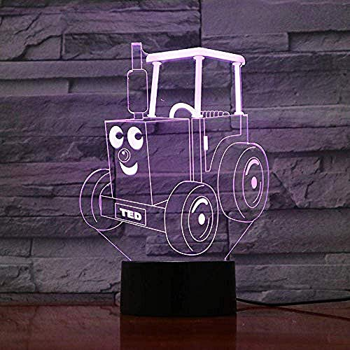 Friends Night Light Locomotief 3D-illusie tafellamp kinderen trein motor bureau lamp gadget