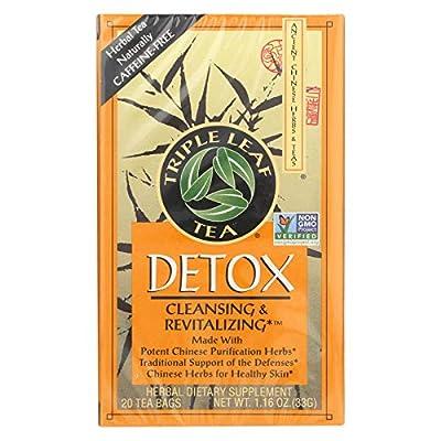 Triple Leaf Tea, Detox, 20 Tea Bags (Pack of 6) by Triple Leaf