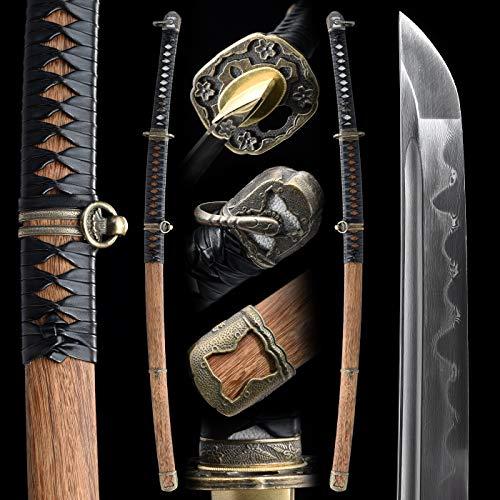 eroton Samurai Katana Functional Hand Forged Handmade Japanese Katana Sword 1060 1095 Carbon Steel...