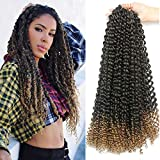7 Packs Passion Twist Hair 18 Inch Water Wave Synthetic Braids for Passion Twist...