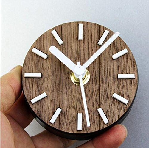 CLOCKLINA Echtholz Kühlschrank Uhr Uhr Retro Retro Europäischen Gartentisch Kreative Kühlschrank Uhr Magnetische Saugpaste Uhr Mute 8,5 * 3 * 8,5 cm