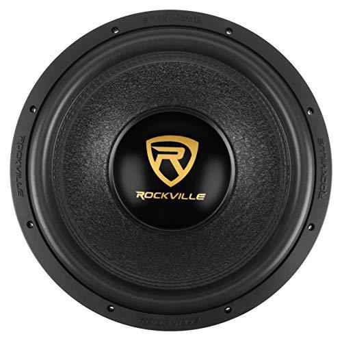 """Rockville W15K9D4 15"""" 5000w Car Audio Subwoofer Dual 4-Ohm Sub CEA Compliant"""
