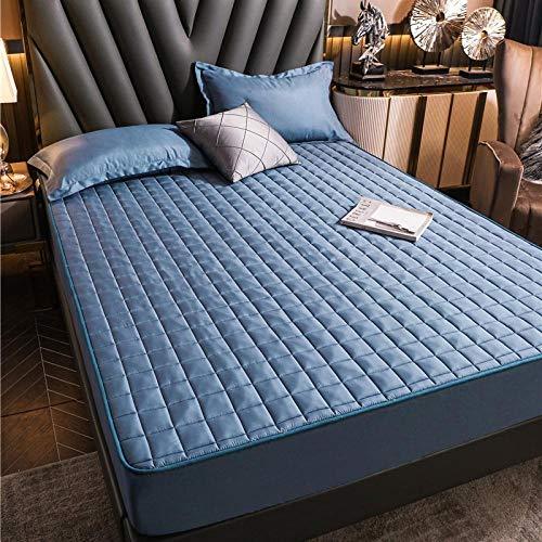Nuoxuan Resistente a Las Manchas,Ropa de Cama Impresa Acolchada de poliéster, Dormitorio de apartamento Individual Doble tamaño King-Azul 3_120x200cm