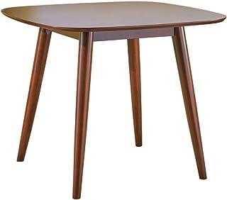 Bass Mid Century Table de salle à manger carrée en imitation bois Finition noyer