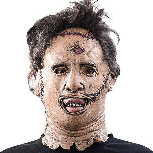 Latex Halloween Horror Film Herren Grusel Maske Kostüm Masken Horror Maske Heikle Dekoration One Size Mit Angebrachtem Haar