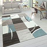 Paco Home Wohnzimmer Teppich In Modernen Pastell Farben, Karo Muster m. 3D Effekt, Grösse:160x230...