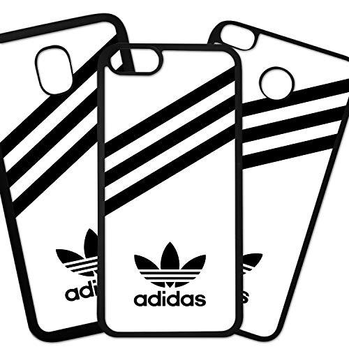 Tuscaprichosonline Fundas De Moviles Carcasas De Moviles Funda Carcasa Compatible con Marca Deportiva Adidas Logo Negro Fondo Blanco