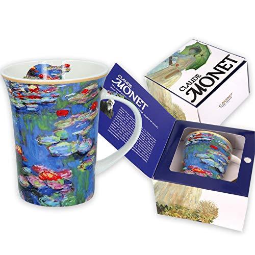 Carmani - Tazza di caffe o te in porcellana con Monet'Papaveri' 350 ml