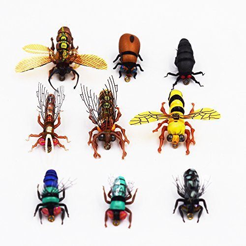 Flyafish Big Flesh Fly Big Fruit Fly Blow Fly Bumble Bee Honey Bee Lacewing Gadfly Small Beetle Big Thrip Dry Fly Fishing Lure