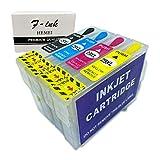 F-INK - Cartucho de tinta recargable vacío compatible con cartuchos de tinta Epson 29 o 29XL, 4 colores, T2991, T2992, cian y T2993, magenta y T2994, amarillo