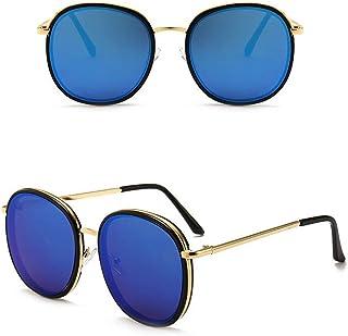92335dbcf4 Fliegend Hombre Mujer Gafas de Sol Redondas Retro Vintage UV400 Polarizada  Espejo Alpinismo Unisex Gafas de