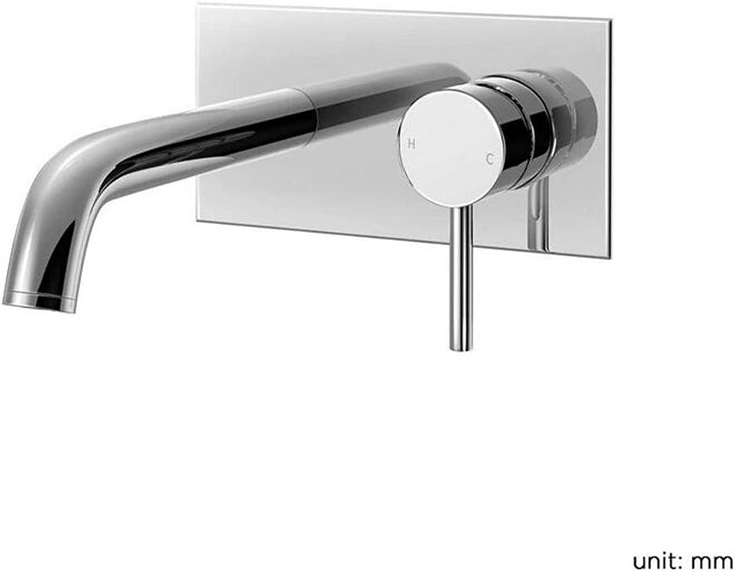 Retro Kitchen Hot and Cold Water 360 Degree redation Wall Mounted Bath Filler Mixer Tap Chrome Bathroom Faucet