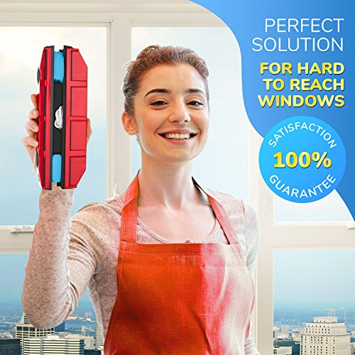 """Tyroler Bright Tools The Glider S-1 Magnetic Window Cleaner ONLY for Single Glazed Windows Fits 0.1""""-0.3"""" Window Thickness. Glass Cleaner"""